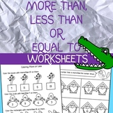 More than, less than, equal to Worksheets