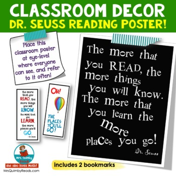 More that You Read - Poster - Dr. Seuss - Classroom Decor
