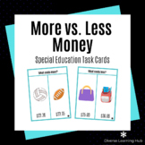 More vs. Less Money -  Distance Learning - Special Educati