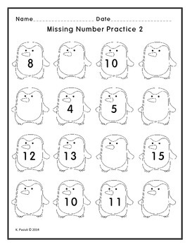 Building Number Sense with Missing Number Activities