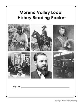 Moreno Valley History Reading Comprehension Articles Packet
