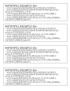 Moreporks Research Source List