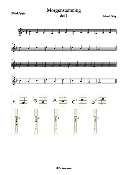 Morgenstemning - Morning mood - Morgenstimmung-soprano recorder (blokkfløyte)