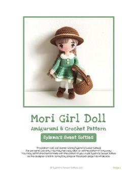 Mori Girl Art Doll, Amigurumi & Crochet Pattern Tutorial (Fiber Art Craft)