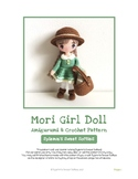 Fiber Art Craft: Mori Girl Art Doll Toy Amigurumi Crochet Pattern Tutorial