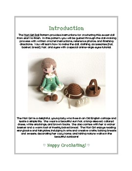 Fiber Art Craft: Mori Girl Art Doll Toy Amigurumi Crochet Pattern Tutorial