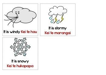 Maori Language Weather Chart