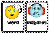 Māori language wall display - more feelings words