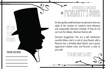 Moriarty's Band (Sherlock Holmes) Murder Mystery Scenario Game