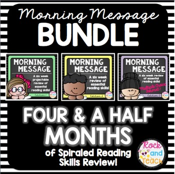 READING TEST PREP: Morning Message Edition 1, 2, and 3 BUNDLE