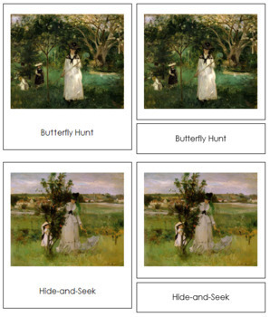 Morisot (Berthe) 3-Part Art Cards