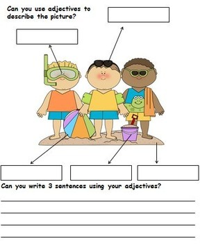 Morning Activities - Adjectives, Verbs and Nouns