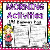 Morning Activities QLD Beginners Font
