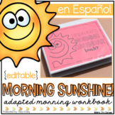 SPANISH Morning Adapted Work Binder (for Special Needs)