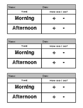 Morning/Afternoon Behavior Charts