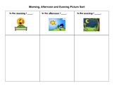 Morning, Afternoon, Evening Picture Sort for English Learners