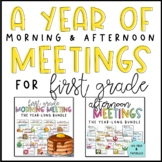 Morning & Afternoon Meeting Bundle for First Grade