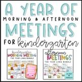 Morning & Afternoon Meeting Bundle for Kindergarten