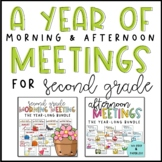 Morning & Afternoon Meeting Bundle for Second Grade