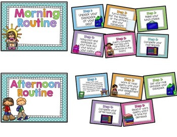 Morning & Afternoon Routine Posters