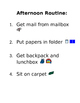 Morning/Afternoon Routines with Visuals - Editable