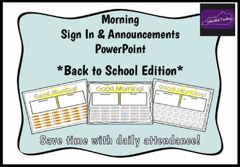 Morning Attendance - Back to School Edition