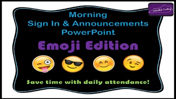 Morning Attendance - Emoji Edition