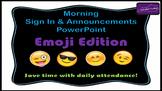 Morning Attendance - Emoji Edition