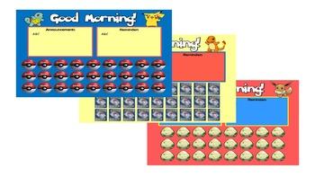 Morning Attendance - Pokemon Edition