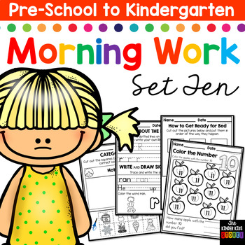 Morning BOOSTER Work: Preschool to Kindergarten - Set Ten
