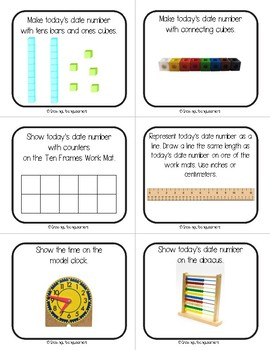 Hands-On Morning Math Activity Cards