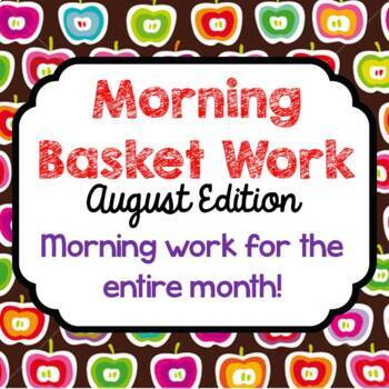 Morning Basket Work {August}