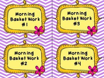 Morning Basket Work Bundle {August-May}