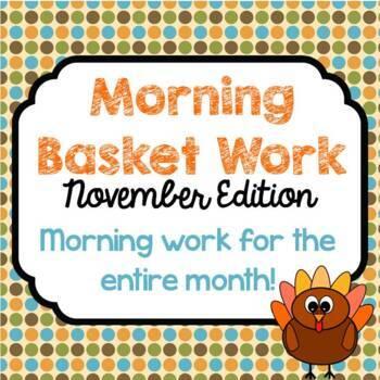 Morning Basket Work {November}