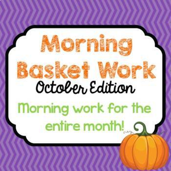 Morning Basket Work {October}