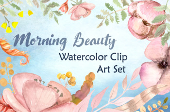 Morning Beauty Watercolor Clipart