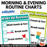 Morning & Bedtime Routine Checklist, Visual Schedule Home, Autism, Special Needs