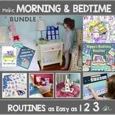 Morning & Bedtime Routine Charts & Card Decks (BUNDLE) - V