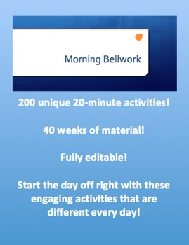Morning Bellwork - Full Year of Activities - All Subjects