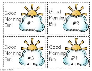 Morning Bin Labels