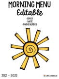Morning Binder Editable Cover