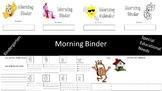 Morning Binder - Kindergarten / Special Educational Needs