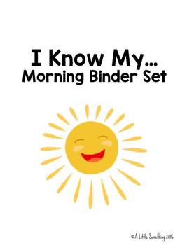 Morning Binder Set - I Know My...