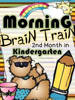 Morning Work - Math & Literacy {Morning Brain Train 2nd Month in Kindergarten}