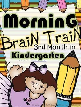 Morning Work - Math & Literacy {Morning Brain Train 3rd Month in Kindergarten}