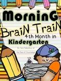 Morning Work - Math & Literacy {Morning Brain Train 4th Month in Kindergarten}