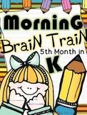 Morning Work - Math & Literacy {Morning Brain Train 5th Month in Kindergarten}
