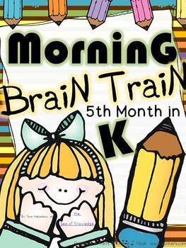 Morning Work - Math & Literacy {Morning Brain Train 5th Month in Kindergarten}
