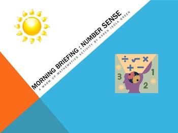 Morning Briefing A Warm Up Mathematics Activity of Basics