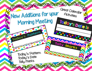Morning Calendar Activities Posters